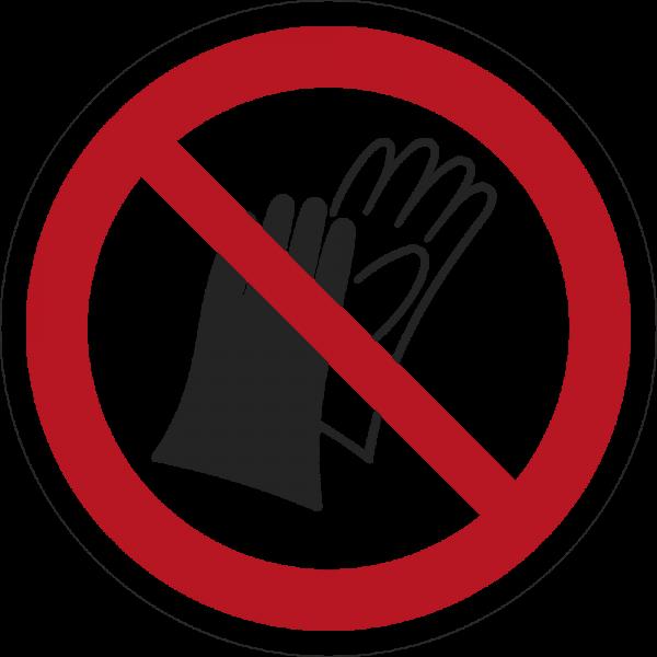 Benutzen von Handschuhen verboten ISO 7010-P028