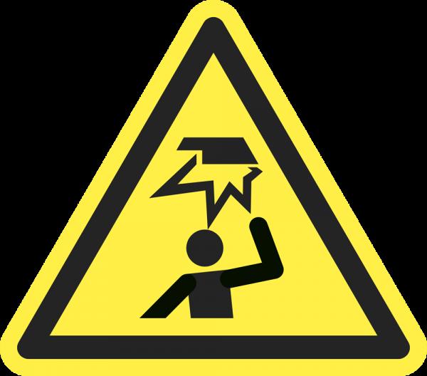 Warnung vor Hindernissen im Kopfbereich ISO 7010-W020