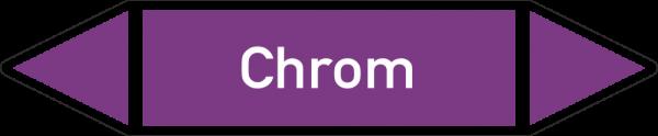 Rohrleitungskennzeichnungen - Chrom