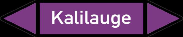 Rohrleitungskennzeichnungen - Kalilauge