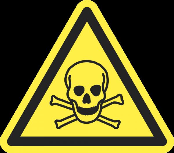 Warnung vor giftigen Stoffen ISO 7010-W016