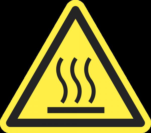 Warnung vor heißer Oberfläche ISO 7010-W017