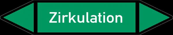Rohrleitungskennzeichnungen - Zirkulation