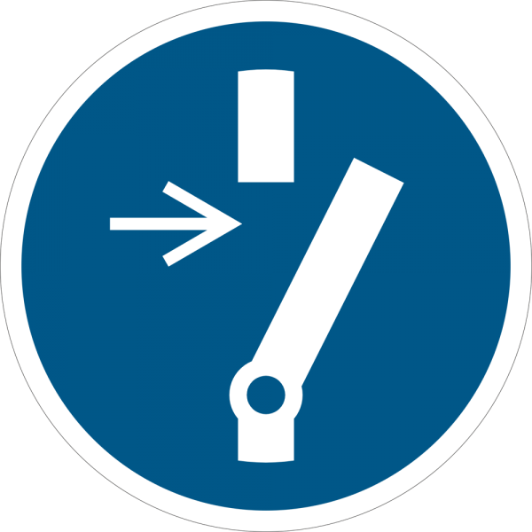 Vor Wartung oder Reparatur freischalten ISO 7010-M021