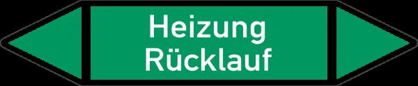 Rohrleitungskennzeichnungen - Heizung Rücklauf