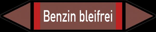 Rohrleitungskennzeichnungen - Benzin bleifrei