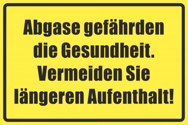 Betriebskennzeichnung Abgase