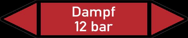 Rohrleitungskennzeichnungen - Dampf 12 bar