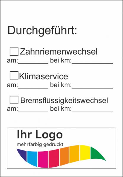 Checkliste, Service Aufkleber 45x65mm