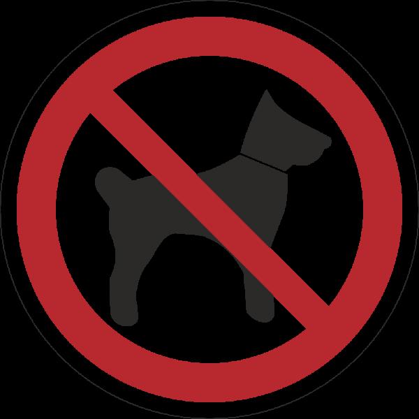 Mitführen von Hunden verboten ISO 7010-P021