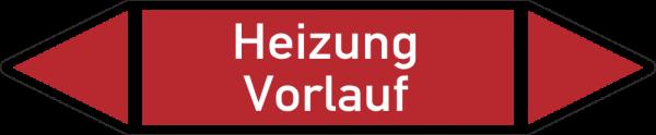 Rohrleitungskennzeichnungen - Heizung Vorlauf