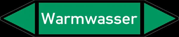 Rohrleitungskennzeichnungen - Warmwasser