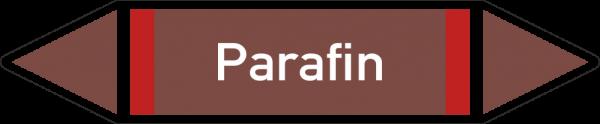 Rohrleitungskennzeichnungen - Parafin