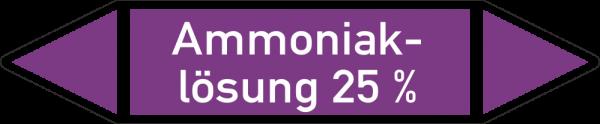 Rohrleitungskennzeichnungen - Ammoniaklösung 25