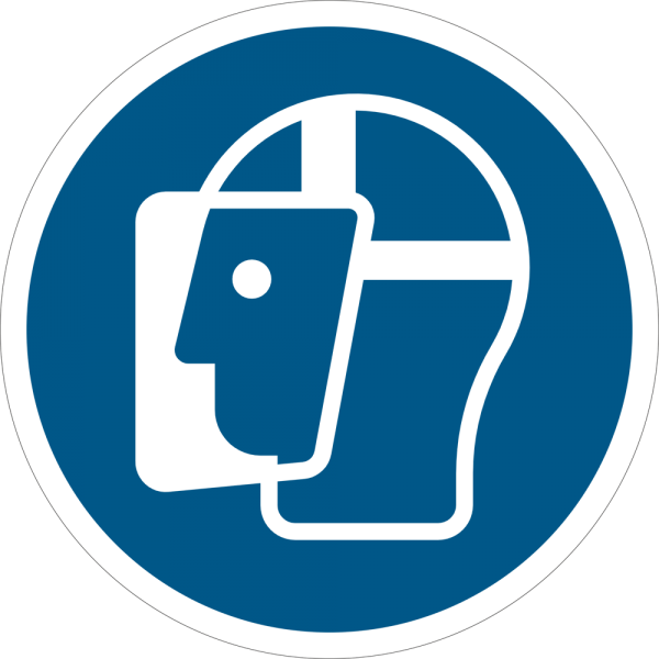 Gesichtsschutz benutzen ISO 7010-M013