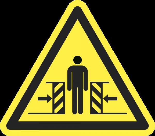 Warnung vor Quetschgefahr ISO 7010-W019
