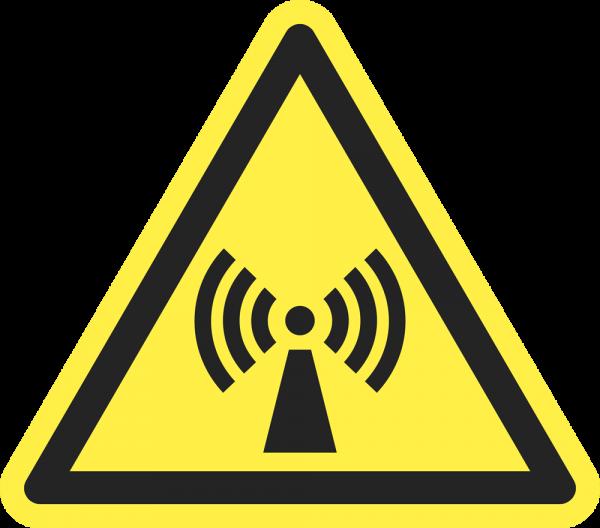 Warnung vor nicht ionisierender Strahlung ISO 7010-W005