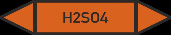 Rohrleitungskennzeichnungen - H2SO4