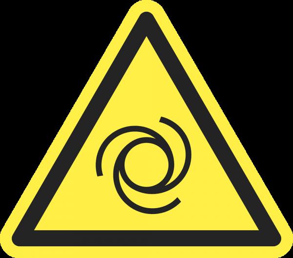 Warnung vor automatischem Anlauf ISO 7010-W018