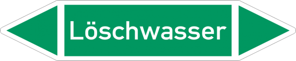 Rohrleitungskennzeichnungen - Löschwasser