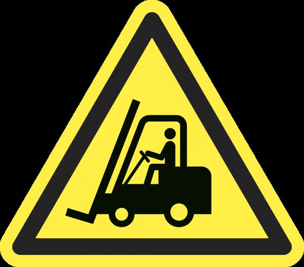 Warnung vor Flurförderzeugen ISO 7010-W014
