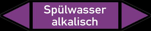 Rohrleitungskennzeichnungen - Spülwasser alkalisch