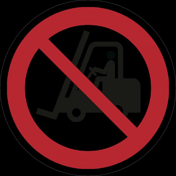 Für Flurförderzeuge verboten ISO 7010-P006