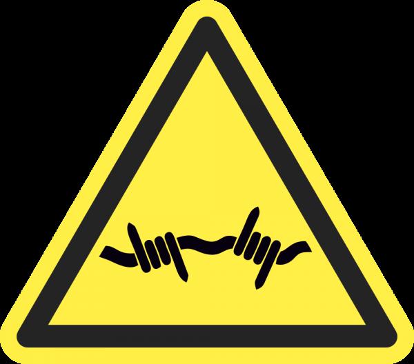 Warnung vor Stacheldraht ISO 7010-W033