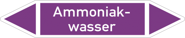 Rohrleitungskennzeichnungen - Ammoniakwasser