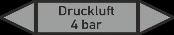 Rohrleitungskennzeichnungen - Druckluft 4 bar