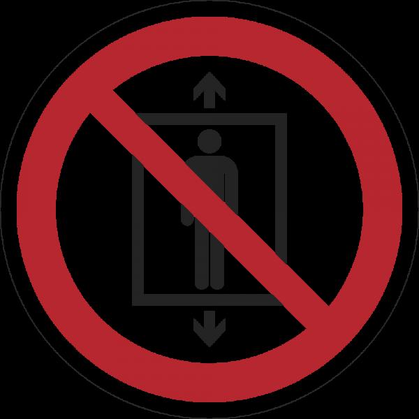 Personenbeförderung verboten ISO 7010-P027