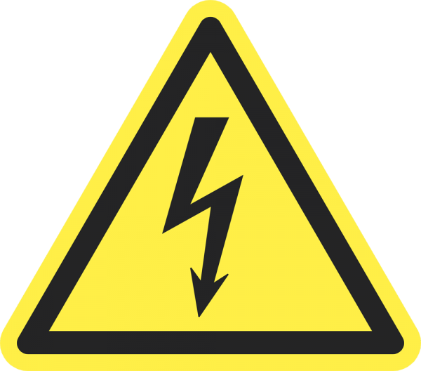 Warnung vor elektrischer Spannung ISO 7010-W012