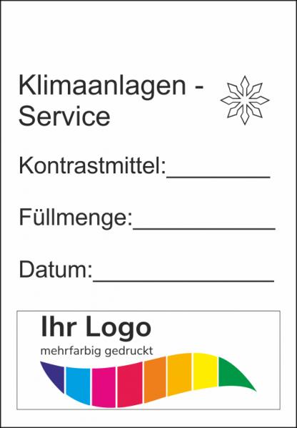 Klimaanlagen-Service, Service Aufkleber 45x65mm