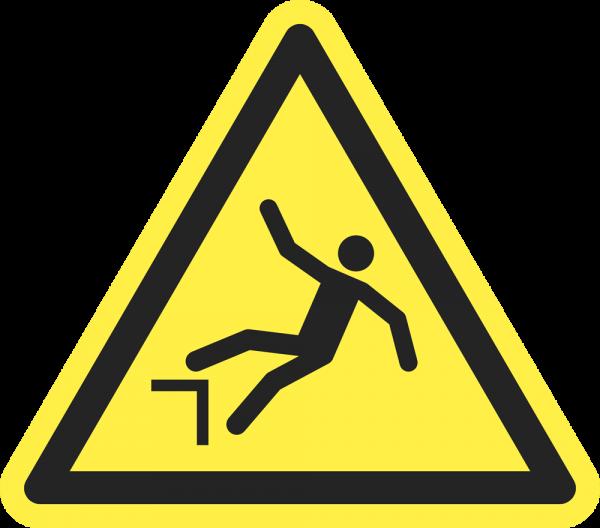 Warnung vor Absturzgefahr ISO 7010-W008