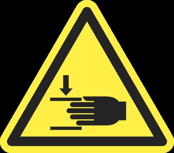 Warnung vor Handverletzungen ISO 7010-W024