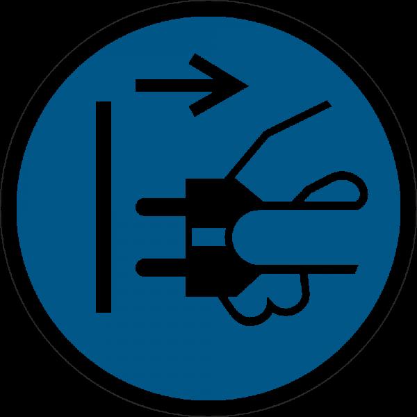 Netzstecker ziehen ISO 7010-M006