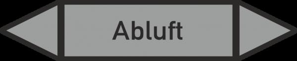 Rohrleitungskennzeichnungen - Abluft