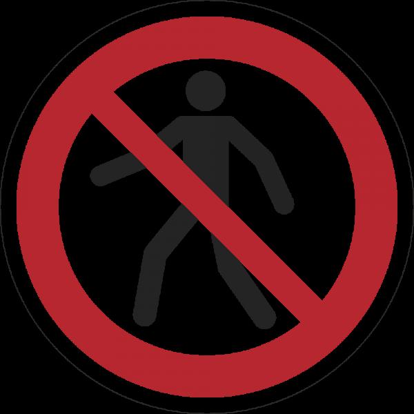 Für Fußgänger verboten ISO 7010-P004