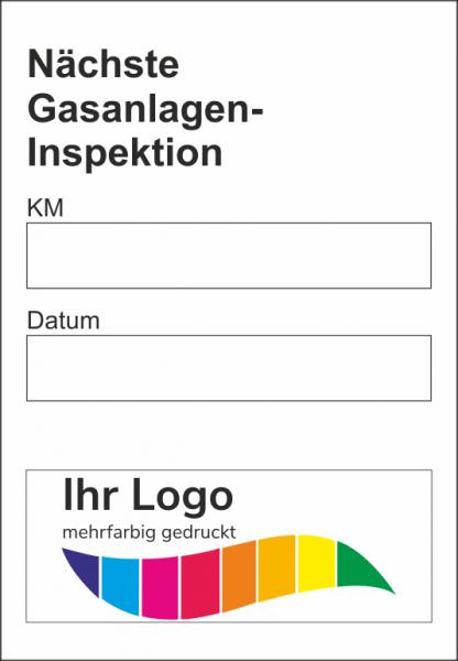 Gasanlagen-Inspektion, Service Aufkleber 45x65mm