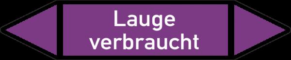Rohrleitungskennzeichnungen - Lauge verbraucht