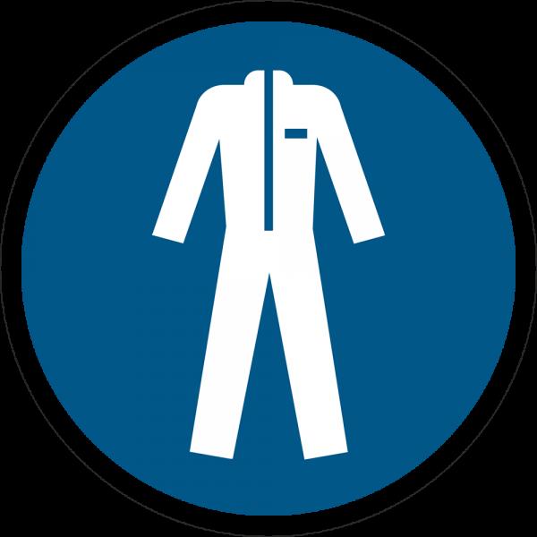 Schutzkleidung benutzen ISO 7010-M010