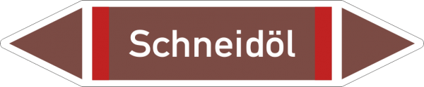 Rohrleitungskennzeichnungen - Schneideöl