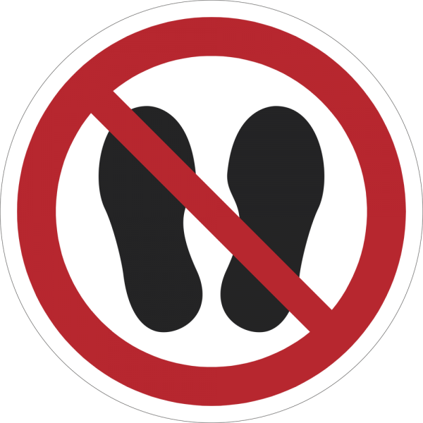 Betreten der Fläche verboten ISO 7010-P024