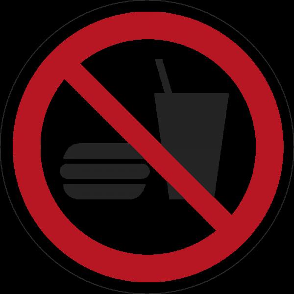 Essen und Trinken verboten ISO 7010-P022