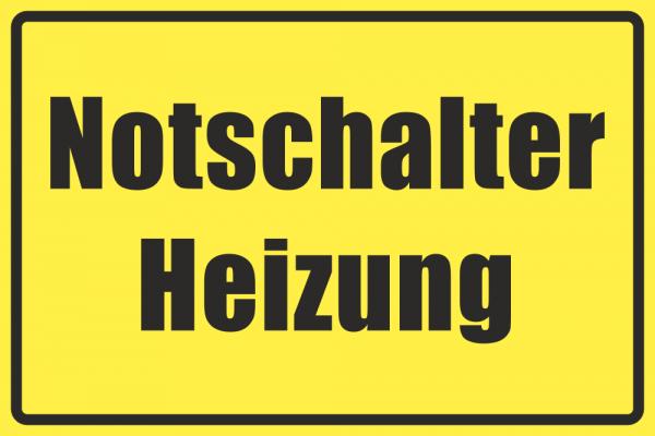 Betriebskennzeichnung Notschalter Heizung