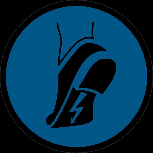 Antistatisches Schuhwerk benutzen ISO 7010-M032