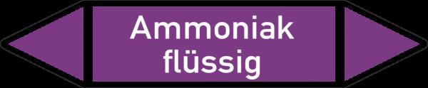 Rohrleitungskennzeichnungen - Ammoniak flüssig