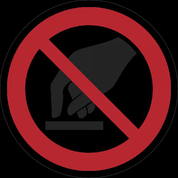 Berühren verboten ISO 7010-P010