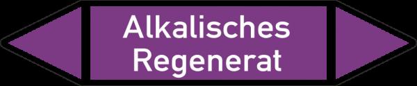 Rohrleitungskennzeichnungen - Alkalisches Regenerat