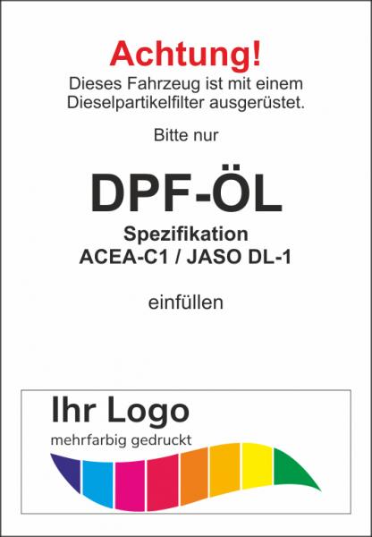 DPF-Öl, Service Aufkleber 45x65mm